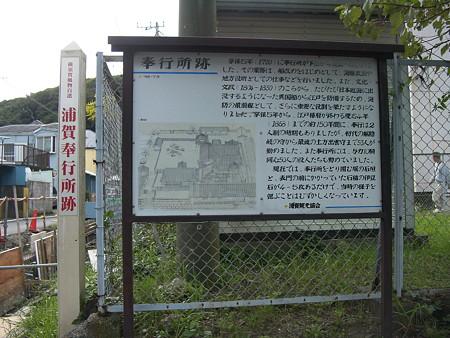 浦賀奉行所跡の看板