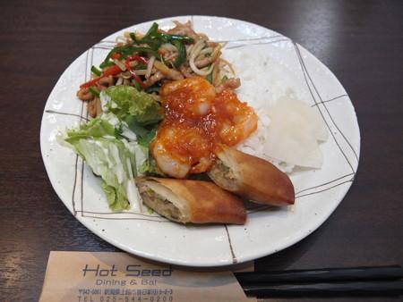 Dining&Bal Hot Seed ランチプレート(特別メニュー)¥540