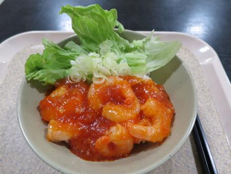 上越の湯 なごみ処 海老チリ丼¥580
