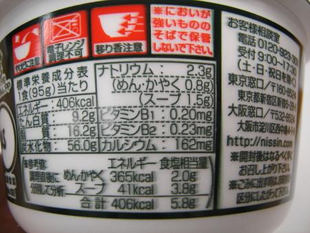 日清のどん兵衛 きつねうどん(西日本) 栄養成分等
