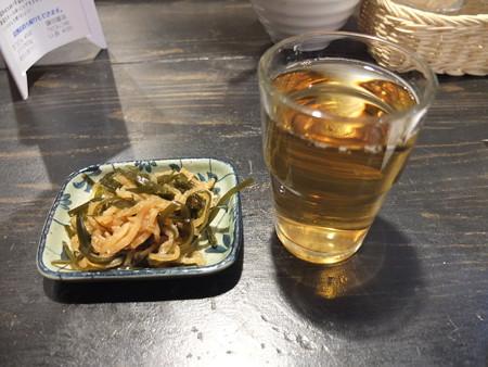 讃岐うどん房 鶴越 お通し&お茶