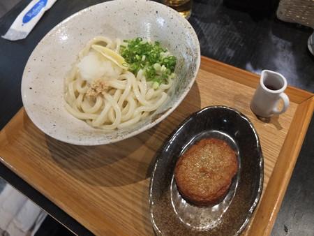 讃岐うどん房 鶴越 おろし醤油(並、温)¥440&じゃこ天¥120