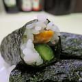 写真: 魚べい 上越高田店 柿の種 in the かっぱ巻 アップ