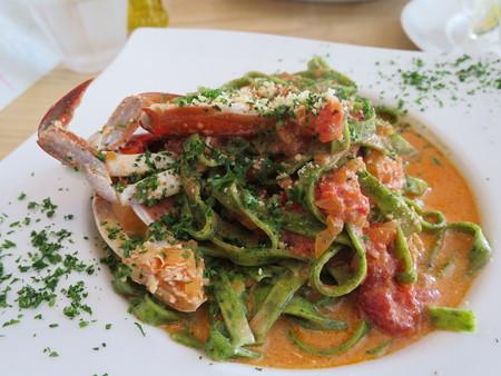 Sucre(シュクレ) 期間限定生パスタランチ(1.5倍盛り) 渡り蟹のトマトクリームソース アップ