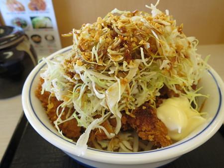 かつや上越店 増し増しやさいのチキンカツ丼(期間限定)¥637
