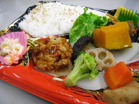 デイリーヤマザキ 日替り弁当(火)豆腐ハンバーグ アップ
