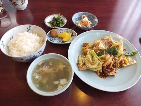 チャイナハウス シルクロード 回鍋肉定食¥900