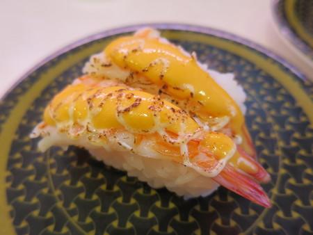 はま寿司 上越店 炙りえびチーズ¥97(平日価格)