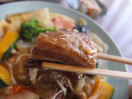 チャイナハウス シルクロード 東坡肉定食 肉アップ