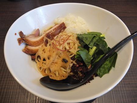 鶏がら屋 フォアグラ和え麺¥1200