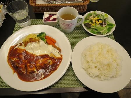 Cafe Restaurant Buono(ブォーノ) ブォーノ風ポークカツ(ランチセット、ライス)¥972