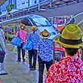 新幹線車内清掃スタッフ