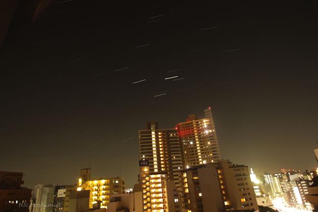 出張先の星空 火星と土星とさそり座