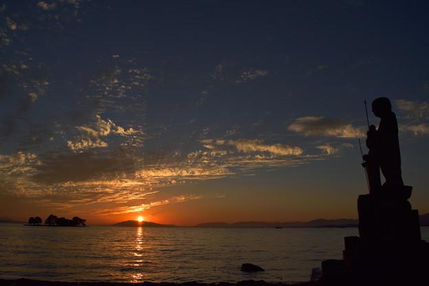 宍道湖からの夕日