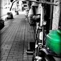 自転車とジョーロ