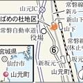 写真: JR常磐線の高架式の山下駅を中心に住宅整備などが進む「つばめの杜地区」を東側から望む=10日午後2時15分ごろ、宮城県山元町-1