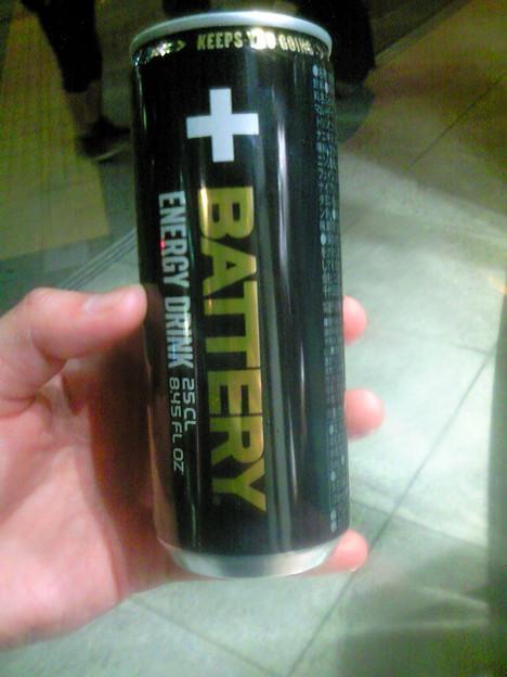 今日のエナドリPART2「BATTERYバッテリー」