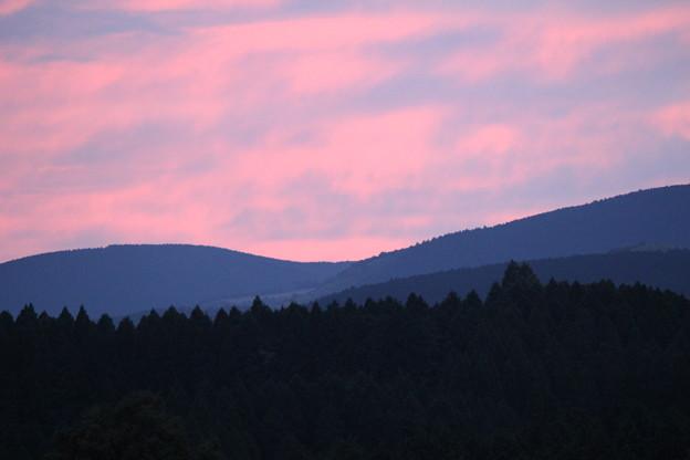 久住高原の夕焼け