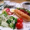 写真: ホットドック 朝食