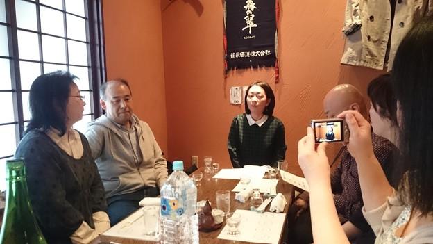 写真: 蔵元の青木知佐さん1