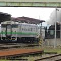 写真: SL函館大沼号 森駅到着1