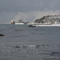 寒さ厳しい裸島