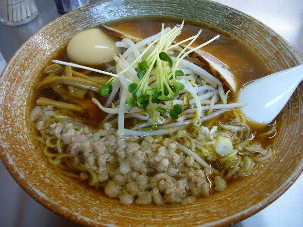 覆麺@神保町(東京)の味玉覆麺。