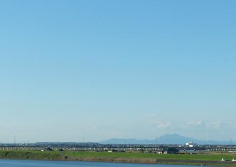 鹿島線と筑波山