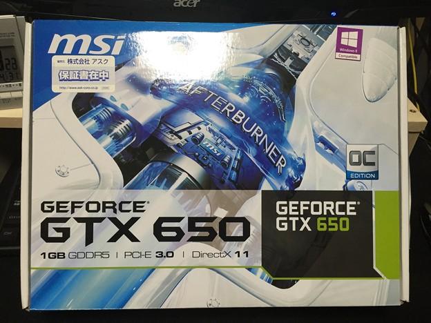 写真: ビデオカード N650GTX ARMOR 1G OC