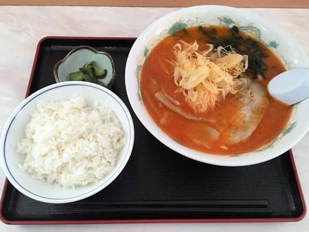 砂川SA 辛味噌ラーメン+ライス