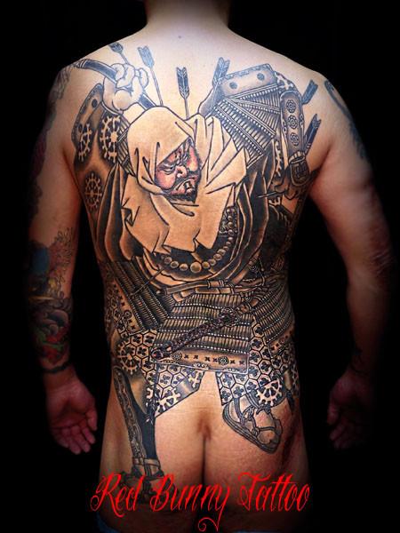 弁慶 武者 刺青 和彫りのデザイン・画像を紹介 東京 吉祥寺 Redbunnytattoo