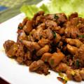 写真: 親鶏の甘辛炒め