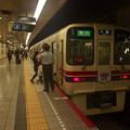 Photos: 都営新宿線馬喰横山駅2番線 京王9031急行大島行き笛扱い