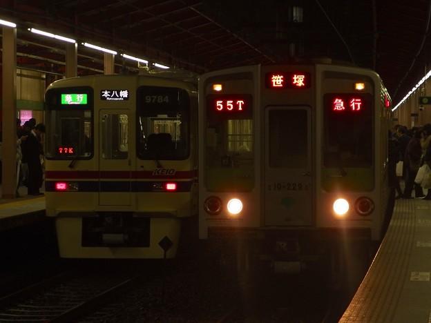 都営新宿線船堀駅 急行どうしの並び