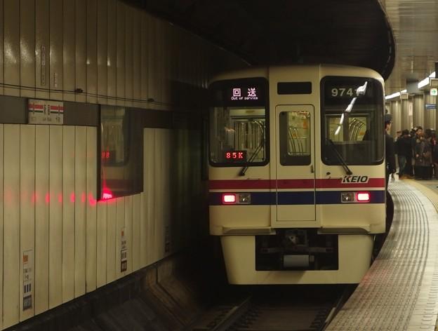 京王新線新宿駅4番線 京王9041回送前方確認