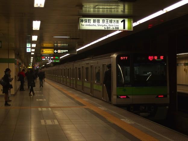 都営新宿線馬喰横山駅1番線 都営10-400F急行笹塚行前方確認