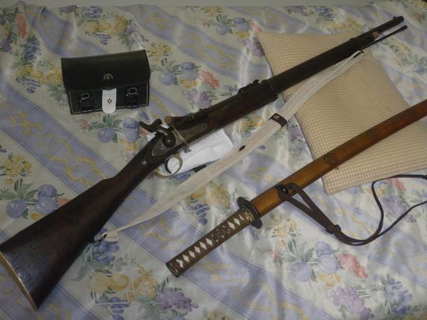 スナイドル銃と日本刀