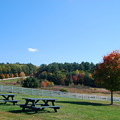 Green Picnic Tables and White Fences 10-13-14