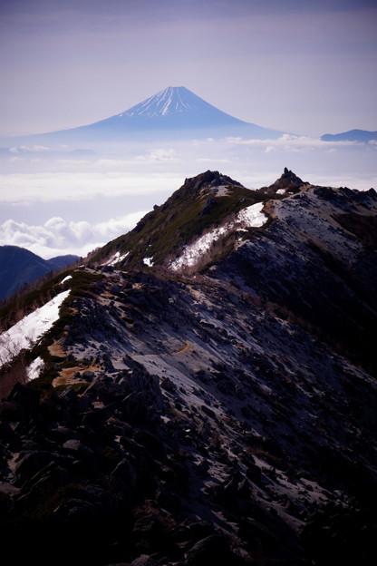 鳳凰三山から富士