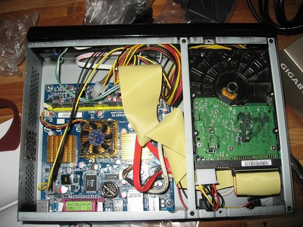 完成。SKC-MINI120に、GA-GC230Dを組み込んだ