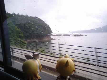 藤の川付近。 リン:「あ、ほら、津波に削られた跡があるゅ」 レン:...