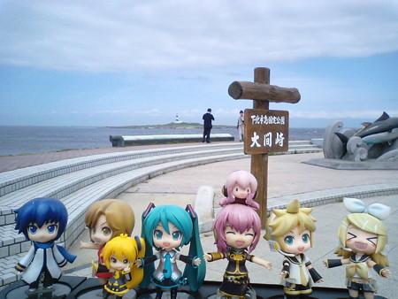 では大間崎到達記念に、全員勢揃いして、パチリと☆