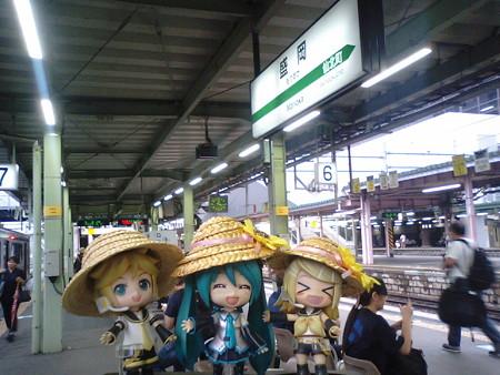 リン:「盛岡駅に着いたぉ!!」 ミク:「次の八戸行きは、50分後で...