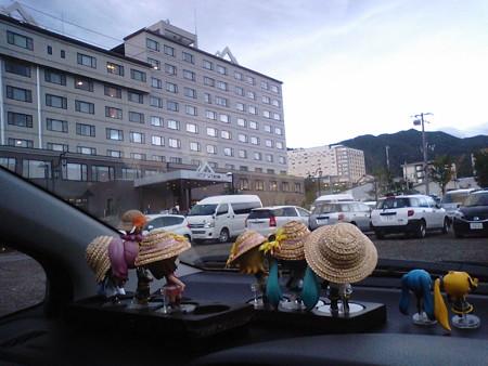 知床プリンスホテル前に到着。当初予定より15分早く着きました。 で...