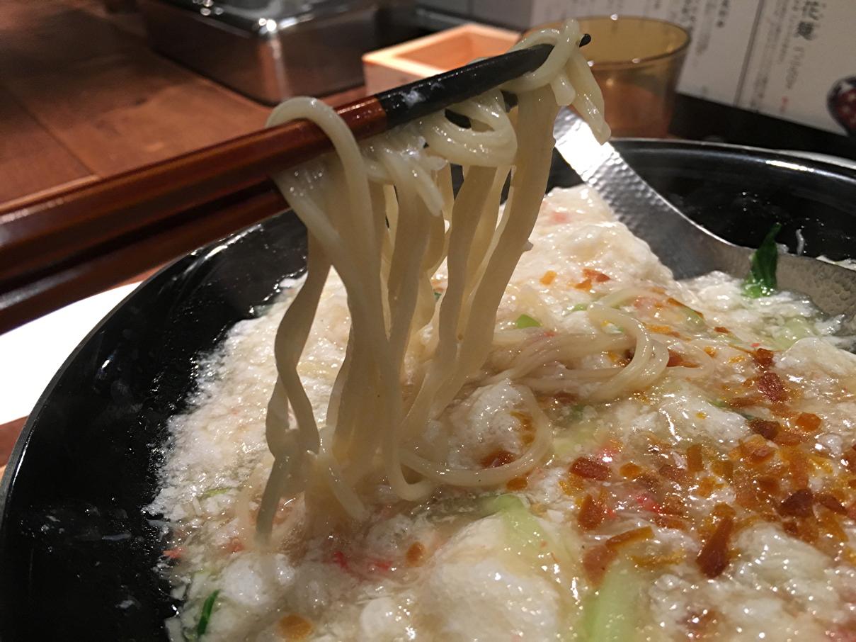 蟹肉雪花麺の麺