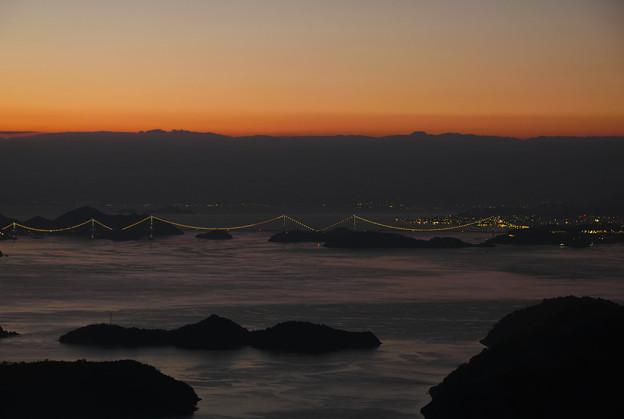 来島海峡大橋のイルミネーション!