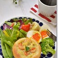 Photos: エビグラタンパンde朝食
