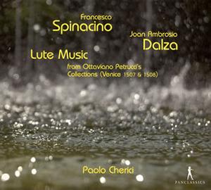 写真: ダルツァのリュート曲集、スピナチーノのリュート曲集