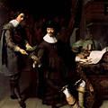 写真: トーマス・ド・ケイセル(1596-1667)コンスタンテイン・ハイヘンスと事務官(1627)