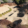 Photos: 【山中城:西の丸障子堀コレクション3】西櫓跡からの障子堀。丸々とした植え込みが可愛らしい。 #静岡の旅2016